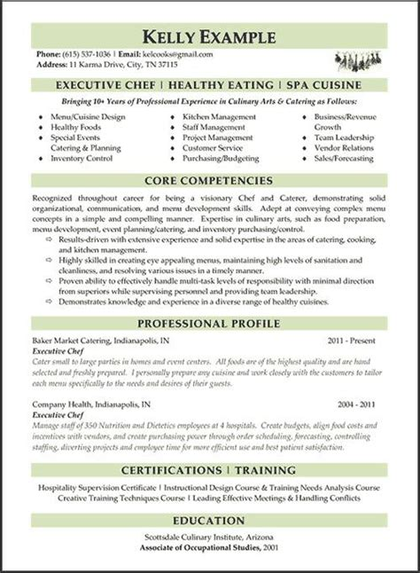 editable microsoft word chef resume template download