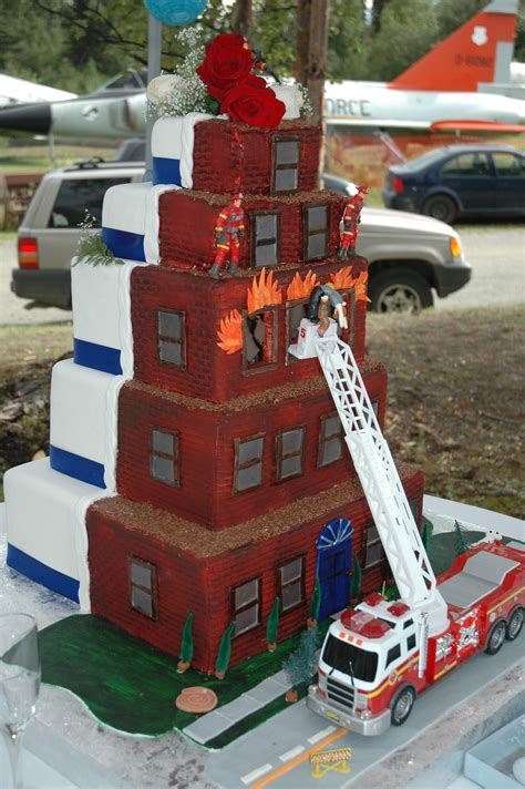 Fire Fighter wedding cake. this would be so fun to make
