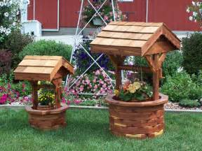 wishing well garden planter amish handcrafted