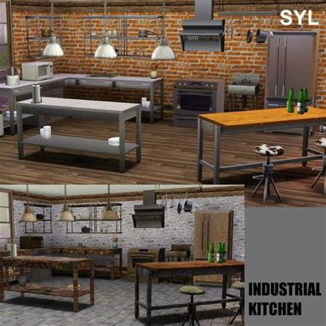 3 Kitchen Set by Empire Sims 3 Industrial Kitchen Set By Eryt96 Tsr Free