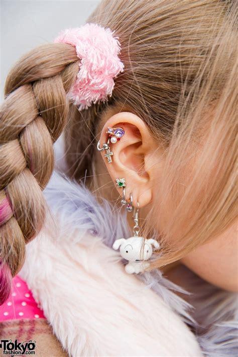 Jacket Muffler Pink harajuku w pink braids unicorn muffler