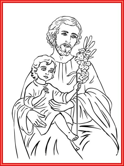 coloring pages of joseph the carpenter st joseph catholic coloring page feast of st joseph