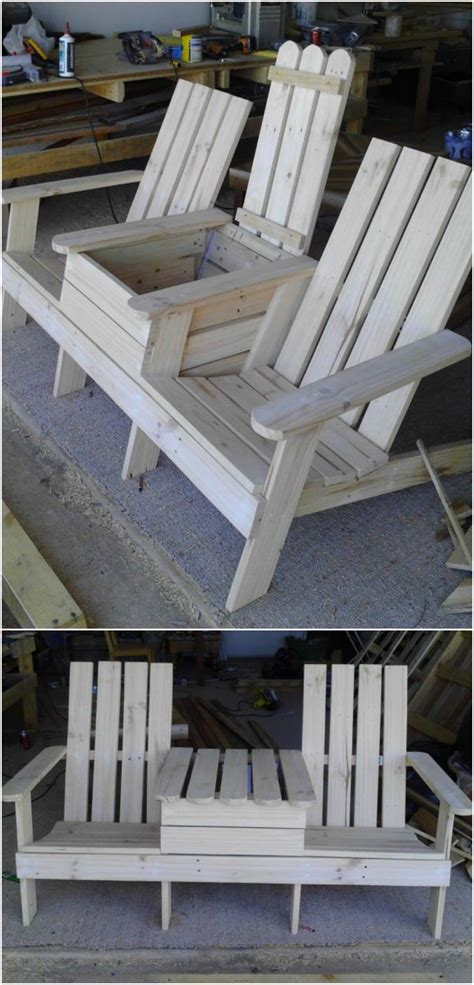 bench cooler build a double chair bench with a cooler