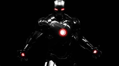 wallpaper dark iron man iron man 4 black hd wallpaper