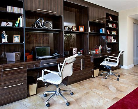 Modern Built In Desk Creative Property Workplace Decorating Concepts Decor Advisor