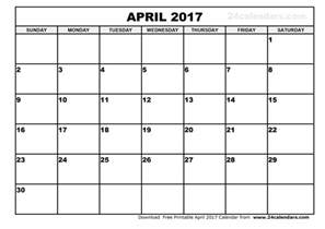 Calendar November 2017 To April 2018 Printable April 2017 Calendar Printable