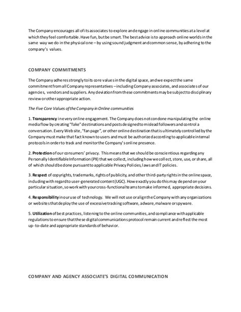 digital communications protocol template