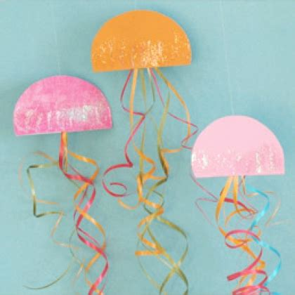 How To Make A Paper Jellyfish - jazzy jellyfish decorations disney family