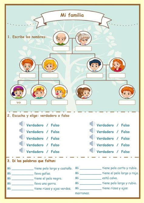 la familia worksheet answers la familia interactive and downloadable worksheet check your answers or send them to