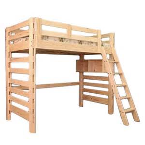 Twin Bunk Bed With Trundle Cottage Single Double Canadian Wood Loft Bed Scanica