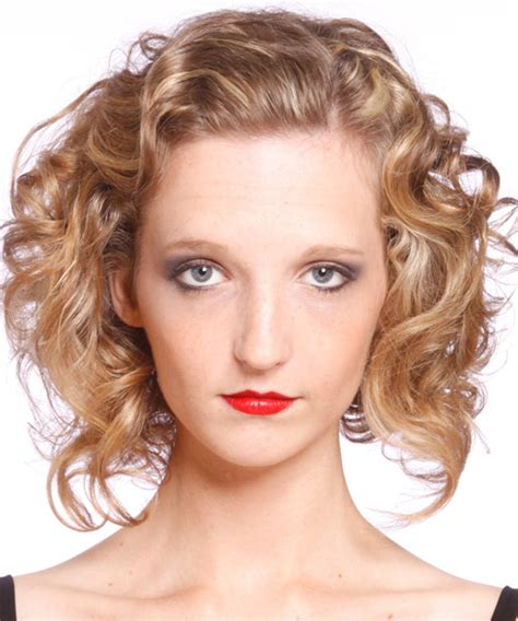 casual hairstyles for medium wavy hair medium curly casual hairstyle