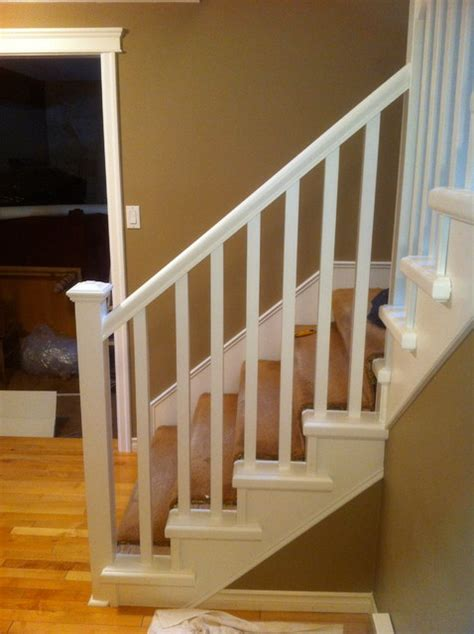 Painting Banister Spindles by Painted Railing And Spindles Traditional Staircase Other Metro By S A Woodworking Ltd