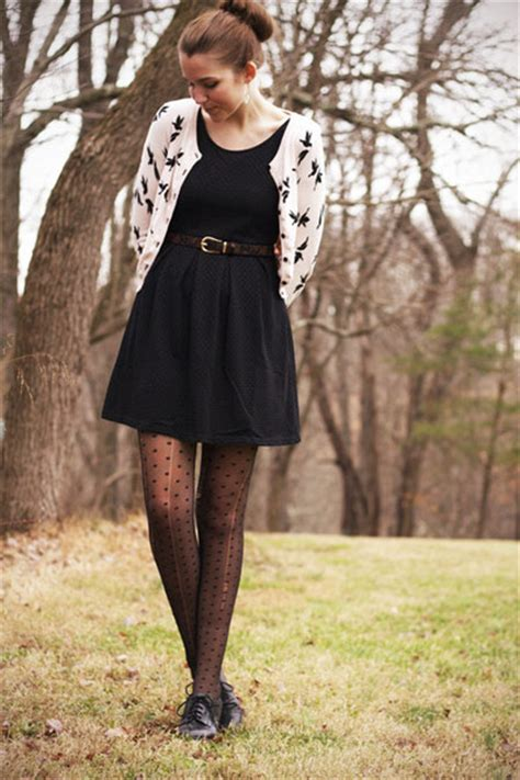 Set Black Dress Cardi light pink h m cardigans black modcloth dresses black
