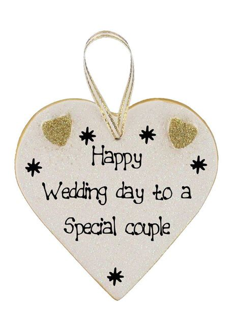Wedding Day by Happy Wedding Day Plaques Click For Choice Of Messages