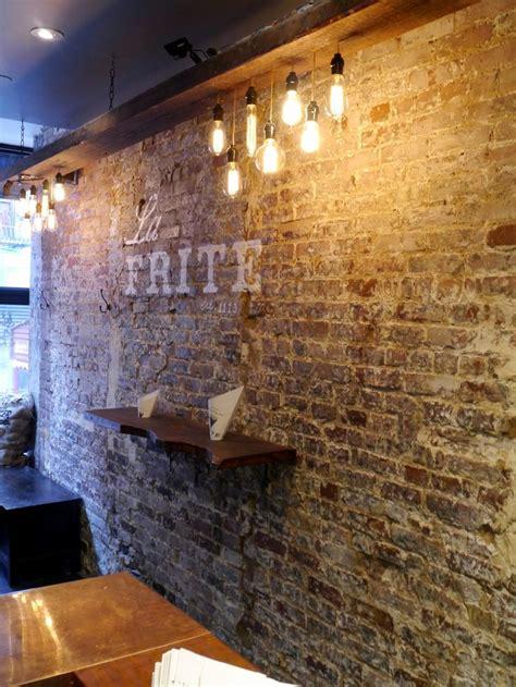 restaurant interior design faux brick walls brick