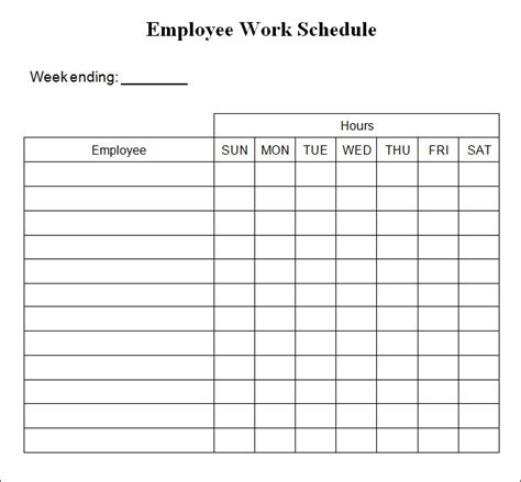 4 week schedule template 4 week work schedule template ideal vistalist co