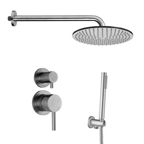 doccia con soffione e doccetta composizione doccia paffoni steel con braccio soffione