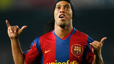 ronaldinho i played in better barcelona front three than