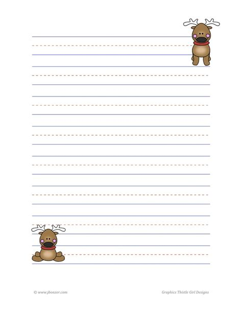 printable reindeer application reindeer lined writing paper school ideas to try