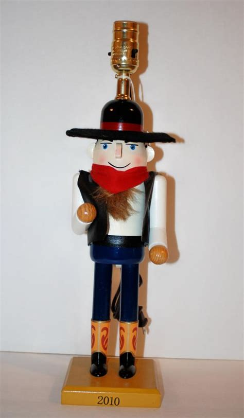 unique nutcrackers unique handcrafted cowboy nutcracker table l