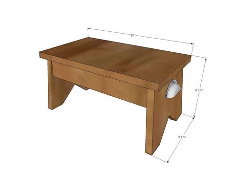 simple step stool plans woodworking   diy stool