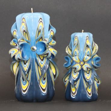blue candle lighting big blue candles mens gifts carved candle vanity