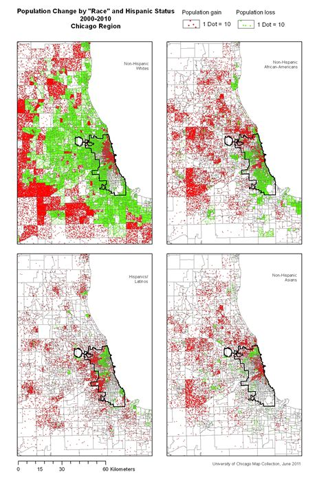chicago map by race change in population by quot race quot and hispanic status
