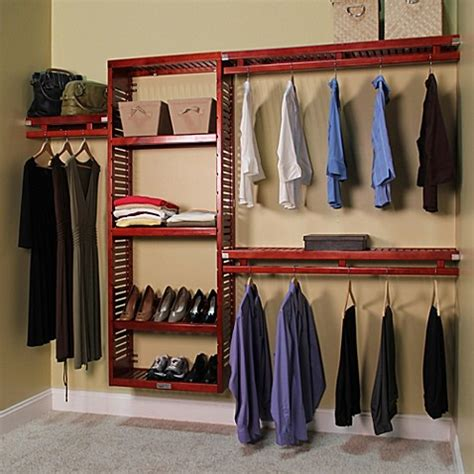 bed bath and beyond closet john louis home simplicity closet organizer in red