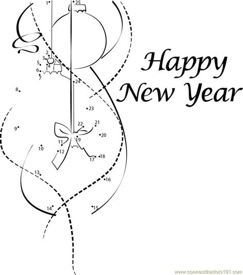 new year join the dots happy new year dot to dot printable worksheet connect