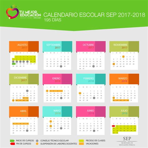 calendario escolar argentina 2017 2018 calendario oficial sep 2017 2018 tres versiones