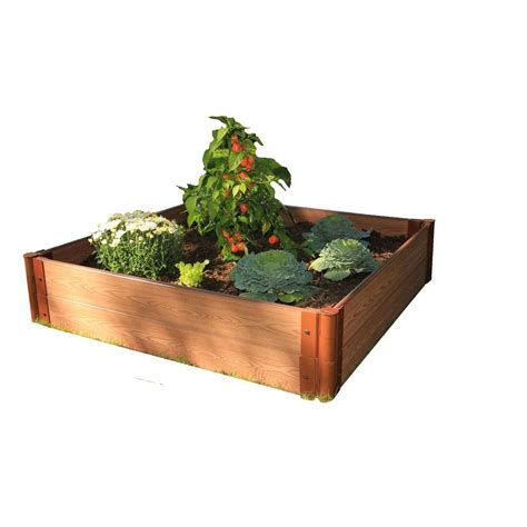 Raised Garden Beds Home Depot by Frame It All One Inch Series 4 Ft X 4 Ft X 11 In