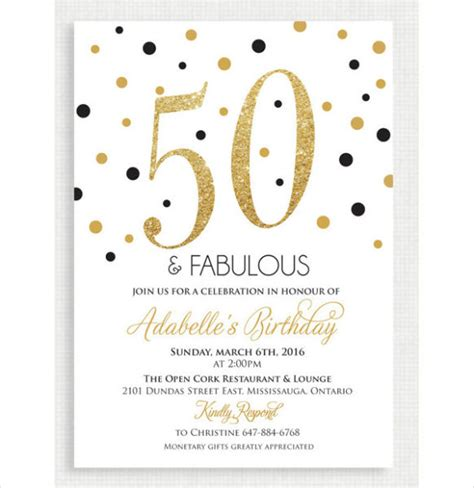 50th Birthday Invitation Templates 21 Free Premium Download 50th Birthday Template