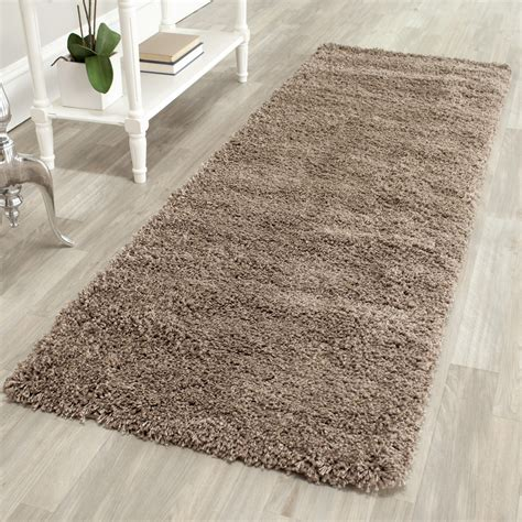 Plush Rugs by Safavieh Power Loomed Taupe Plush Shag Area Rugs Sg151 2424