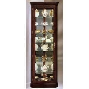 Lighted Hutch Philip Reinisch Co Auberge Corner Curio Cabinet Amp Reviews