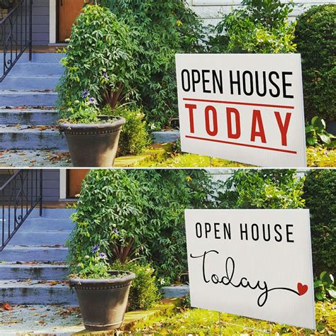 real estate open houses today we have cute open house today yard signs corrugated for h stakes and they also come with or