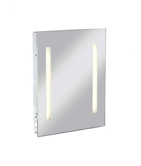 bathroom mirror with point backlit mirror with shaver socket 600mm x 520mm