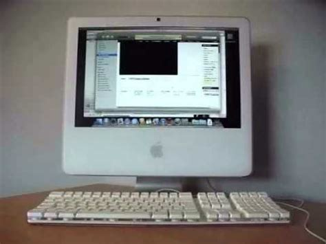 "apple imac 17"" intel core 2 duo startup youtube"