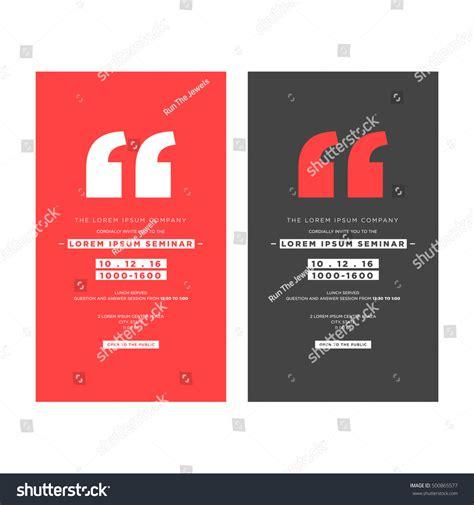 corporate invitation design vector business seminar invitation design template with stock