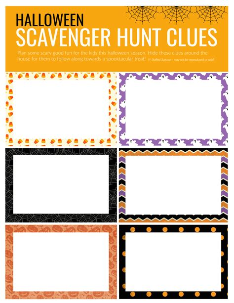 clue cards place template scavenger hunt how to plan a for your
