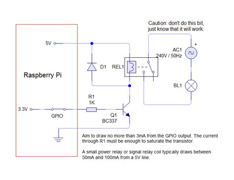 raspberry pi gpio diode tutorial raspberry pi raspberry pi driving a relay using gpio