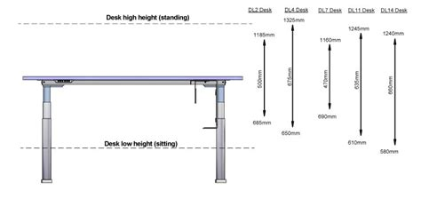 Height Of Average Desk by Benefits Of Electric Height Adjustable Standing Desk Sit