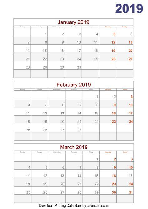 quarterly calendar printable calendar