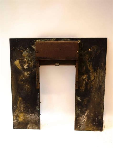 a and important anglo japanese cast brass fireplace