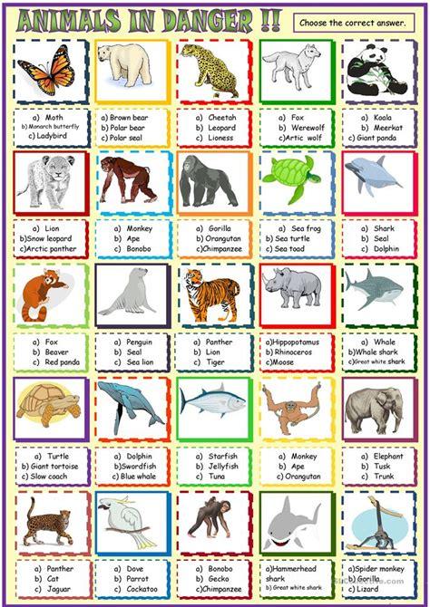 printable endangered animal fact sheets endangered species worksheets free worksheets library
