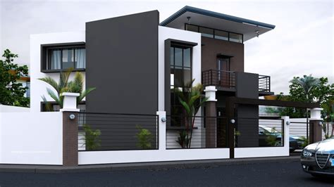 Dream Homes House Plans by Black Amp White House With Stunning Interior Amazing
