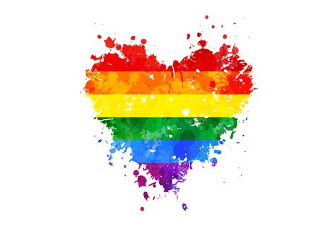 Rainbow Wall Murals lgbt grungy heart wall mural amp photo wallpaper photowall
