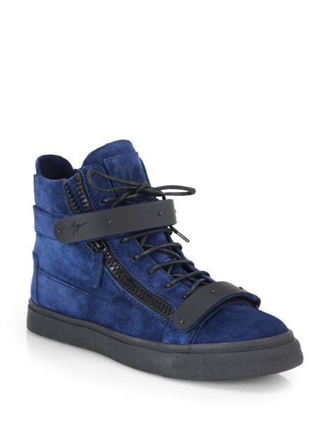 High Tops Bar by Giuseppe Zanotti Matte Bar High Top Sneakers In