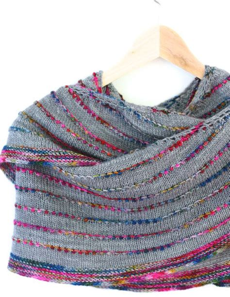 easy shawl d haja colorful but simple shawl knitting pattern by casapinka on