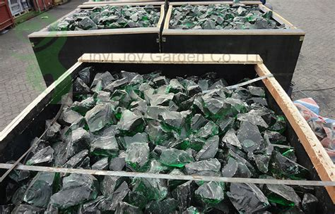 glass rocks garden decoration landscaping recycled green glass rocks for garden