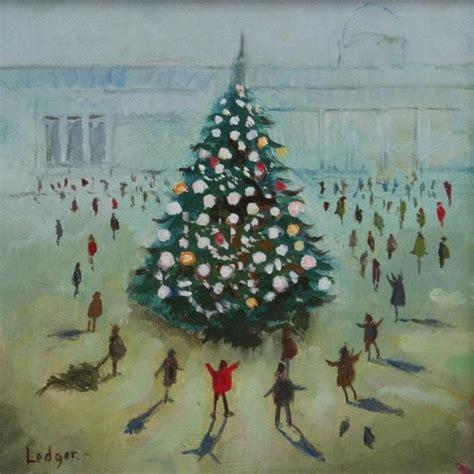 pin  lindsey branson  elf jr christmas paintings christmas tree painting christmas tree